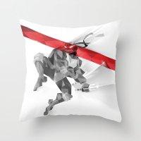 ninja Throw Pillows featuring NINJA by mobokeh