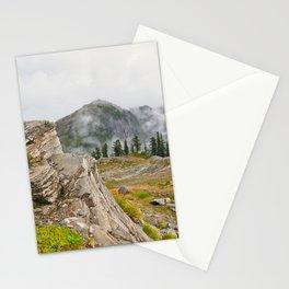 Alpine Ridgeline Trail Woods Forest Mountain Mist Washington Northwest Outdoors Nature Geology Stationery Cards