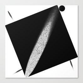 White Flash on Black Canvas Print