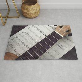 happy strings {ukulele Rug