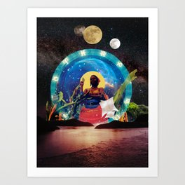 lunar tides of a Wombyn Art Print