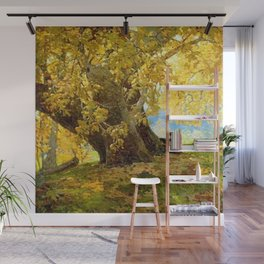 Sycamore in Autumn, Orange County Park Landscape by Edgar Alwin Payne Wall Mural