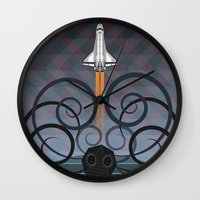 gravity Wall Clocks featuring Gravity by milanova