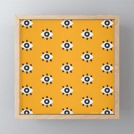 Evil Eye Dots – Marigold Palette Framed Mini Art Print