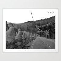 Buddhas on the Road Art Print