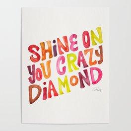 Shine On You Crazy Diamond – Rainbow Palette Poster