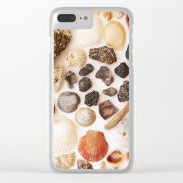 Black and Bone Clear iPhone Case