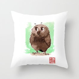 Petite Chouette Throw Pillow
