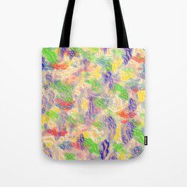 many colorful strokes painted Tote Bag