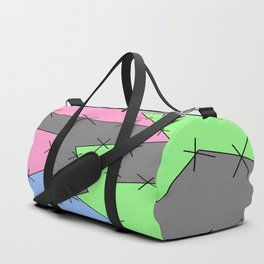 Freestyle Stitches - Gray, Pink, Green Duffle Bag