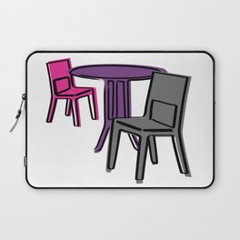 Table & Chairs 01 Laptop Sleeve