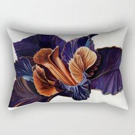 Black Iris Rectangular Pillow