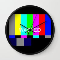 wasted rita Wall Clocks featuring Wasted by Λdd1x7