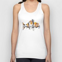 study Tank Tops featuring Koi Study by Ken Coleman