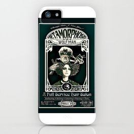 Metamorphosis by The Wolf Man: A Full Service Hair Salon (Vintage) iPhone Case