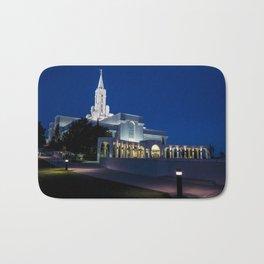 Bountiful Mormon Lds Temple At Twilight - Utah Bath Mat