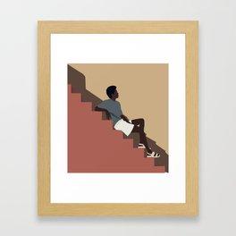 Terracotta Mood. Minimalist illustration Framed Art Print