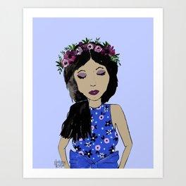 LAVENDER FASHION GIRL Art Print