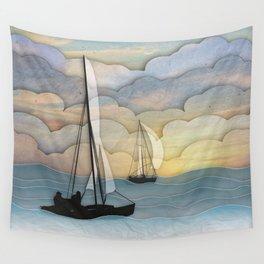 Sailing I Wall Tapestry