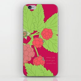 When life gives you raspberries... iPhone Skin