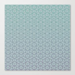Tessellation - Culture Clash - Polytone Teal / Indigo Canvas Print