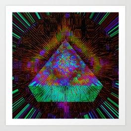Green Pyramid Landing Art Print