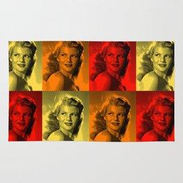 Rita Hayworth Color Rug