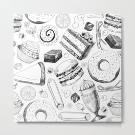 Delicious pattern Metal Print