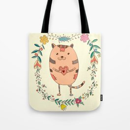 Cute lovely cat Tote Bag