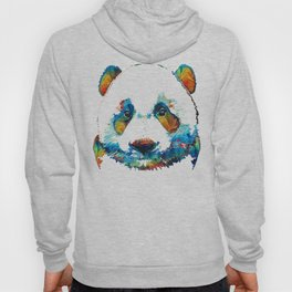 Colorful Panda Bear Art By Sharon Cummings Hoody