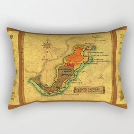 Map Mermaid Cabo de Gata Rectangular Pillow
