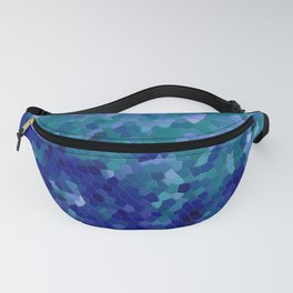 Deep Blue Ocean Mosaic Tile Fanny Pack