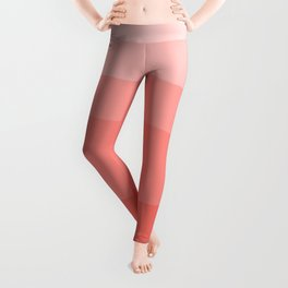Diagonal Living Coral Gradient Leggings