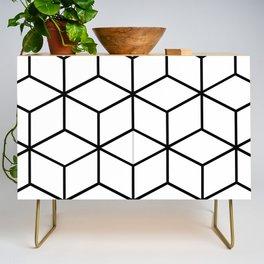Black and White - Geometric Cube Design I Credenza