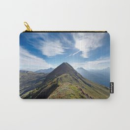 Mountain top with cloudy sky Carry-All Pouch