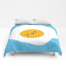 Kawaii Fried Egg Comforters