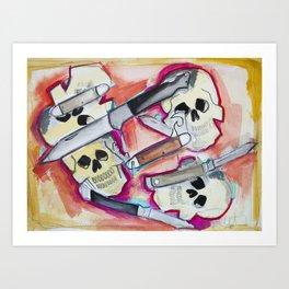 Skulls and Switchblades Art Print