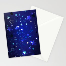 Abstract Blue Background Stationery Cards
