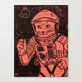 Out of the Cradle, Endlessly Orbiting (Black Salmon) Canvas Print