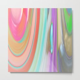 476 - Abstract Colour Design Metal Print