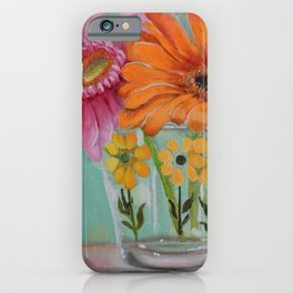 Gerber Daisy Retro Glass Painting iPhone Case