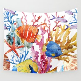 Fish Pattern 08 Wall Tapestry