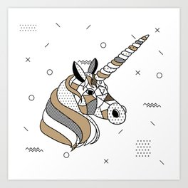 Unicorn Chocolat Art Print