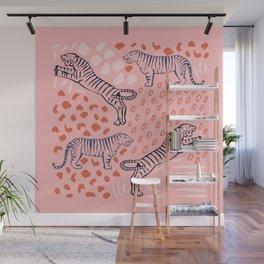 Tiger Print Wall Mural