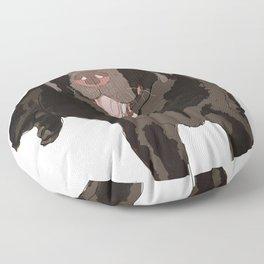 Labrador dog (black) Floor Pillow