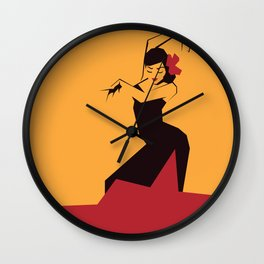 faceted flamenco Wall Clock