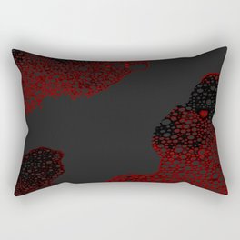 Atomic Bubbles - Red, Black, Drk Gray Rectangular Pillow