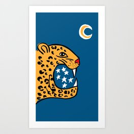 Lonely Moon Art Print Art Print