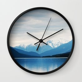 The Blue Misty Mountain Wall Clock