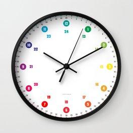 Lernuhr Minimalistisch © hatgirldesign.de 2016 Wall Clock